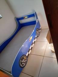 Cama de carrinho com colchão
