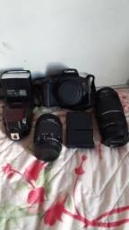 Camêra Canon T6i + flash Yn 685 + lente 75-300mm e 18-55mm