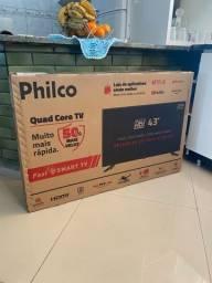 Tv philco 43? smart nova na caixa