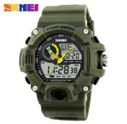 Relógio Skmei 1029 Army Led Watch G Shock Analógico e Digital