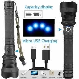 Lanterna de Led Xhp90 Lanterna De Alta Potência Usb Carregamento Display Ret