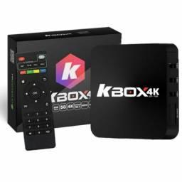 Vendo kboxtv 4k com 590 Canais inclusos+ 18mil filmes e séries+ garantia de 6meses