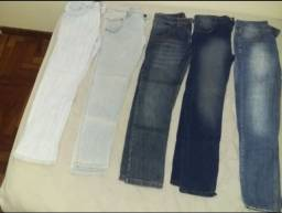5 calças jeans