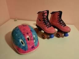 Vendo patins infantil com capacete