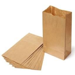 Saco de papel 3kg para delivery pacote fechado 500und