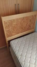 Cama box Solteiro 1,98x0,98 com cabeceira