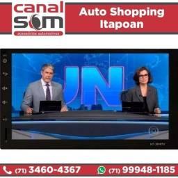 Central Multimídia 2din Câmera + Tv Digital Instalada na Canal Som