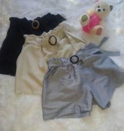 Shorts Linho e Blusas Ciganinha