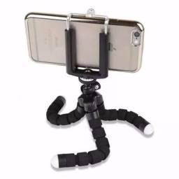 Mini Tripé Flexível + Suporte Para Celular / Escalável /360°