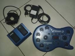 Pedal V'amp 2 Behringer + Fonte + Foot Switch