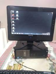 Computador completo Dell optiplex  7010 com monitor, teclado e mouse.