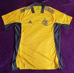 Camisa do Flamengo goleiro amarela (disponível: GG)