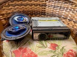 Som Automotivo com Bluetooth + 2 falantes hurricane