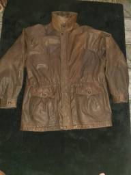 Vendo jaqueta de couro 100% masculina T g