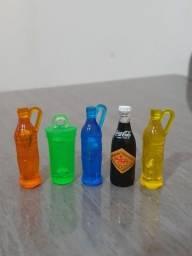 Lote 4 Garrafinhas Miniatura Coca-cola - Colorida, Imã