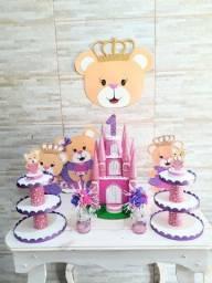 Linda decoração ursinha princesa COMPLETA EM EVA