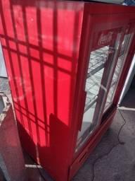 Expositor auto serviço porta de correr de vidro