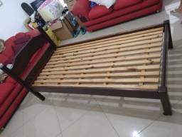 cama de solteiro top em madeira macica