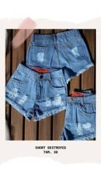 Shorts Jean's Destroyed ( Tam 38)