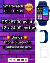 Smartwatch T500 + Plus ( + brinde )