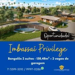 Bangalôs 2 suítes em 158m² - Espetacular no Imbassaí Privillege