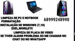 Técnico de Informática, Formatação, Limpeza, Instalação de Windows (7,8 e 10) e ETC