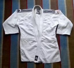 Parte de cima de kimono adidas A2 branco