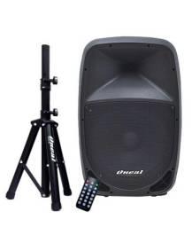 """Caixa de Som Ativa Oneal 15"""" Polegadas 180W Toca SD USB P10 FM Bluetooth915BT + Tripe"""
