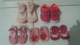 Calçados + Conjuntos Bebê Menina R$60,00