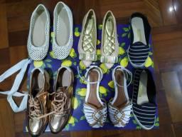 Lote de calçados feminino.
