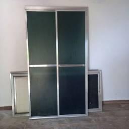 Box para banheiro de alumínio 99x180