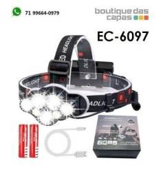 ec-6097 lanterna cabeça Led Cree T6 Recarregável ec-6097 ciclismo bike corrida