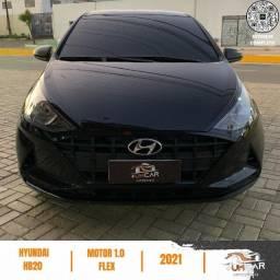 Título do anúncio: Hyundai HB20 - Sense 1.0 - 2021 - Preto - 2.550Km - Emplacado e IPVA pago
