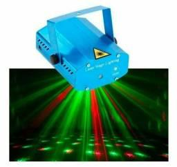 Mini Laser Projetor Holográfico Efeitos Pontilhados Rítmico