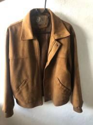 Jaqueta de couro autêntica Tam. G