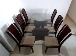 Mesa e 6 cadeiras - Conjunto para sala