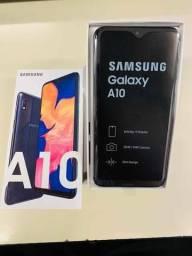 Samsung A10 na caixa nunca usado 1 ano de garantia aceito propostas