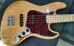 Baixo Sx Vintage Jazz Bass Sjb75 Tortoise 4 Cordas