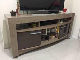Rack para sala em cor madeira