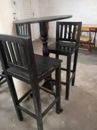 Mesa de madeira preta barato com entrega