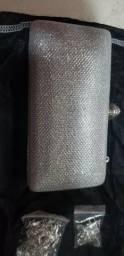 Linda bolsa de prata