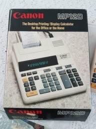 Calculadora de mesa Canon com bobina de impressão