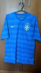 Camisa Seleção Brasileira 2014 Azul Away Thiago Silva