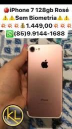 ?iPhone 7 32gb Rosé ?Sem Biometria