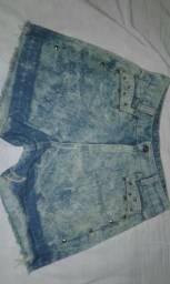 Short jeans verde