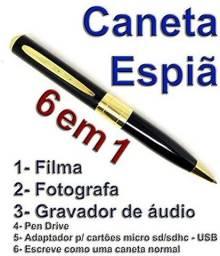 Caneta Espiã Câmera Filmadora Filma Foto Excelente Resolução