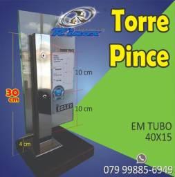 Torre inox 30cm furo 10x10
