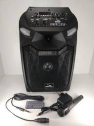 Caixa Som Portátil Bluetooth Portátil Rádio Usb Amplificada 40w
