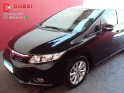 2014 | Honda Civic LXR 2.0 FlexOne (Aut.) / Couro / 97 mil Km / Periciado / Placa B