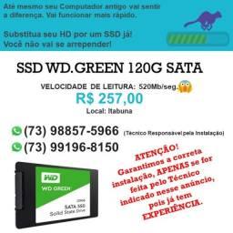 SSD Wd-Green 120giga SATA - Novo - Original
